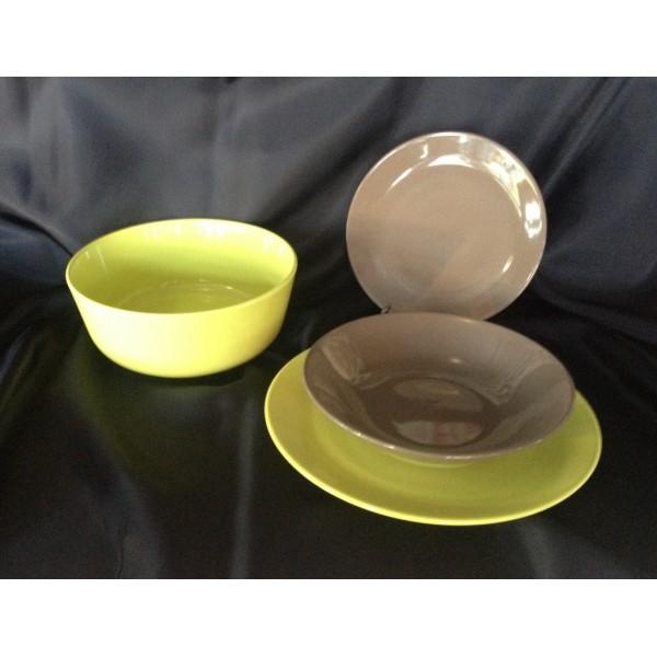 Servizio piatti 19 pezzi gres porcellanato colorati - Servizio di piatti ikea ...