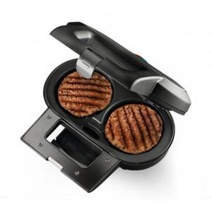 Piastra bistecchiera hamburger macom double burger maker 856 for Cucinare hamburger microonde