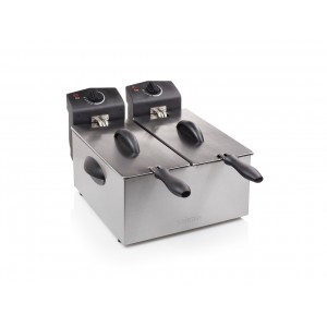 Friggitrice elettrica due vasche 2 x 3 lt Tristar FR6937