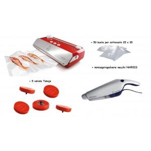 Macchina per sottovuoto Tre Spade Takaje con valvole, sacchetti, miniaspirapolvere Necchi NH9203