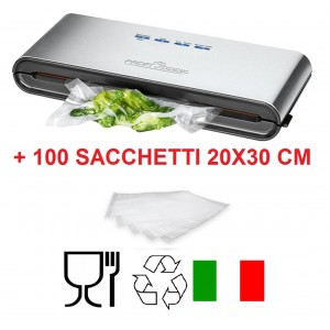 Macchina per sottovuoto Proficook VK1080 + 100 sacchetti 20x30cm