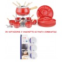 Set Fonduta 29 pezzi Bourguignonne Eva smaltato Rosso 070639