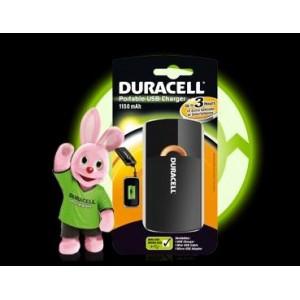 Caricabatterie portatile usb Duracell 3 ore 1150 mah