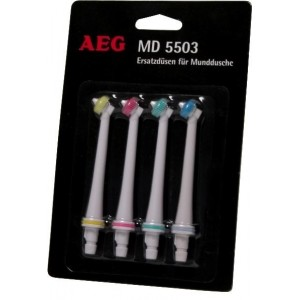 4 testine/ugelli di ricambio per idropulsore dentale AEG MD5503