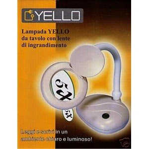 Lampada a LED Yello con lente d'ingrandimento