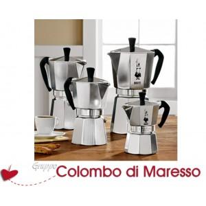 Caffettiera moka restyling Bialetti 1,2,3,4,6,9,12,18 tazze