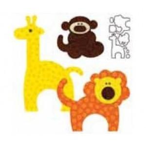 Sagoma animali dello zoo per Accuquilt